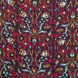 LuLaRoe Irma Burgundy & Teal Thistle Print XL NWT